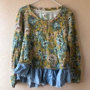 Anthropologie Lilka blouse shirt Sz MP